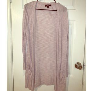 Long Lavender Cardigan